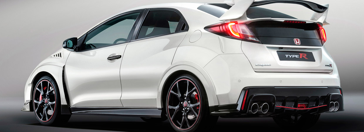 Honda Civic Type R Side and Rear View