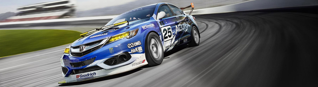 Acura ILX NASA Endurance Racer Side and Front View