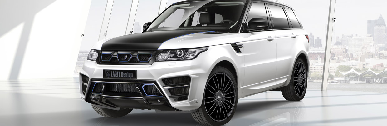 Larte Range Rover Sport Winner Frond and Side View