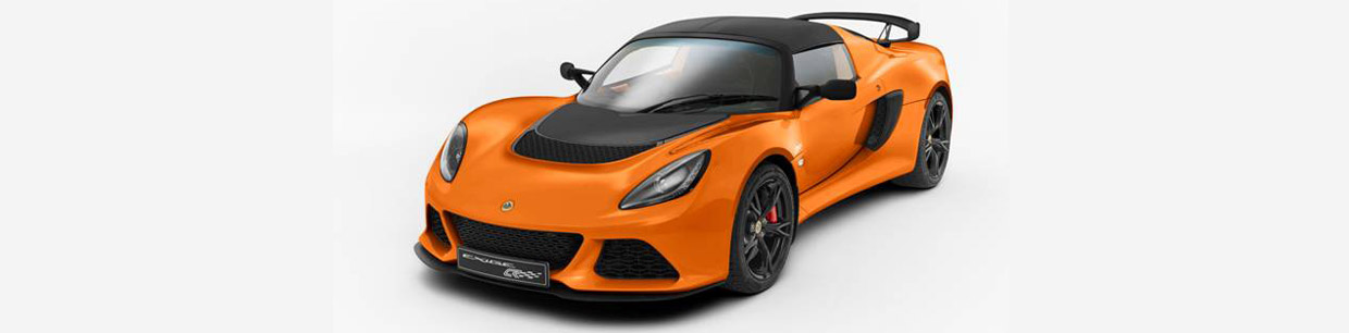 Lotus Exige S Club Racer Front and Side View