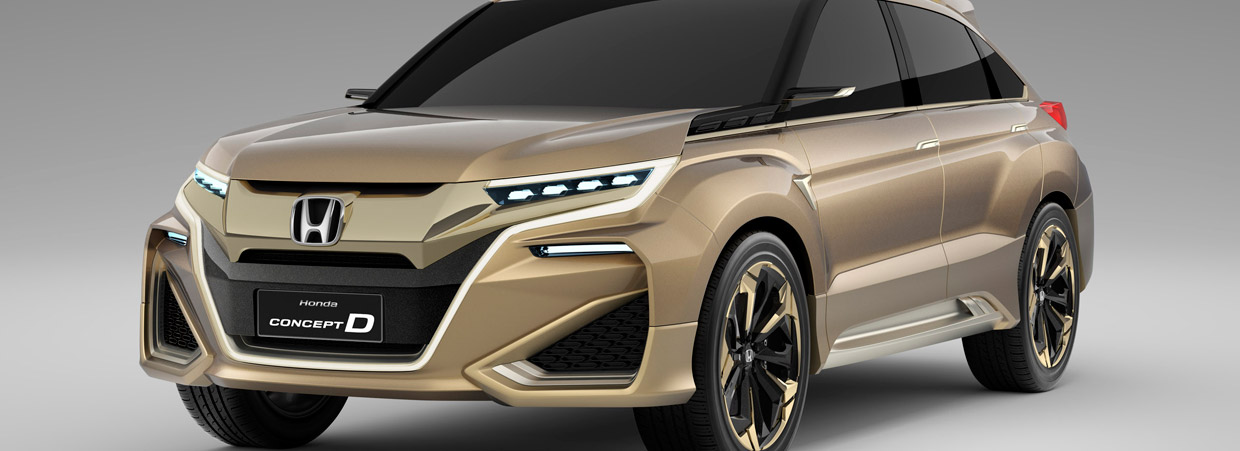 Honda Concept D Side and Front View