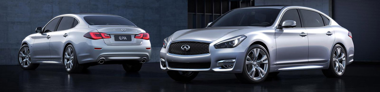 Infiniti Q70L Bespoke Edition Front and Rear View