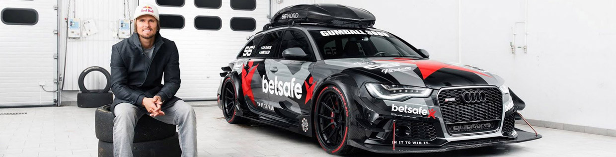 Jon Olsson and his Audi RS6 DTM-