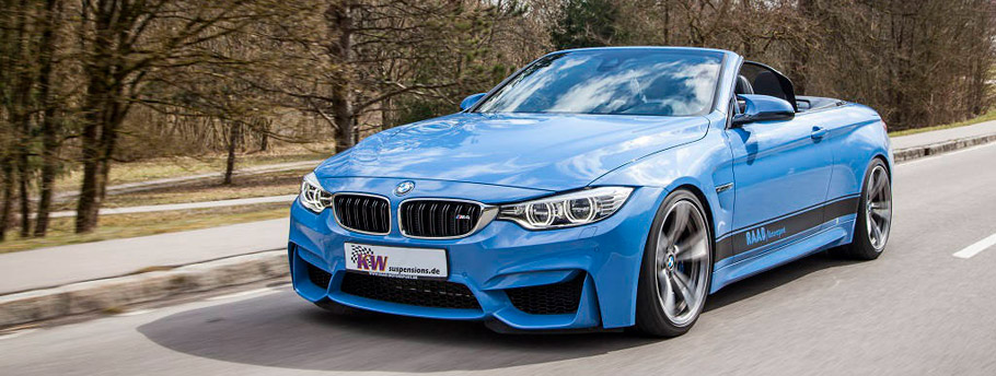 KW BMW M4 Cabrio Front and Side View