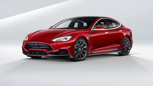 Take a Look at this Lava-Infused Tesla Model S