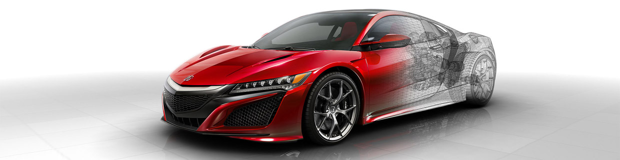 Acura NSX Technical Sketch
