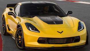 chevrolet showed the 2016 corvette z06 c7 r edition