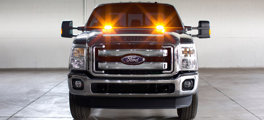 Ford F-Series Super Duty Strobe Light Front View