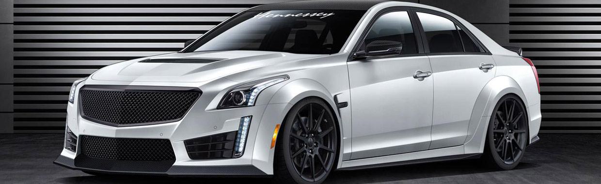 HPE1000 Twin Turbo Cadillac CTS-V Sedan Side View