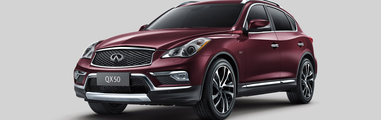Infiniti QX50 Front and Side View