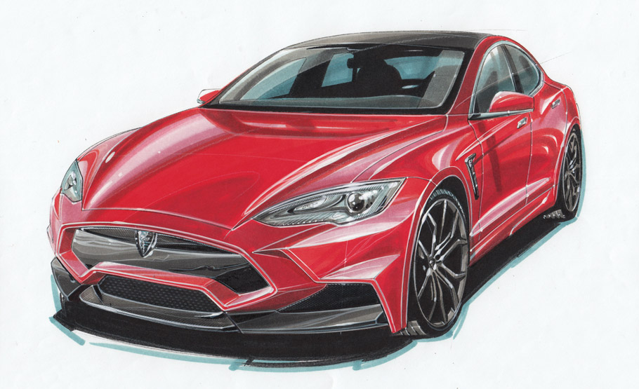Larte Design Tesla Model S Sketch