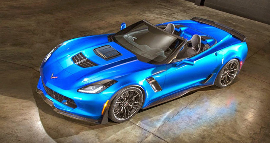Callaway Corvette Z06 looked from above