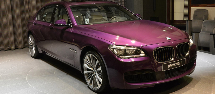 BMW 760Li Front and Side View