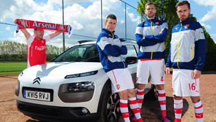 citroen and arsenal football club show a fun video, dedicated to all football fans [video]