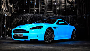 Team 46 Drives an Aston Martin DBS that Glows in the Dark