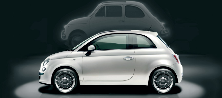 2007 Fiat 500 Side View
