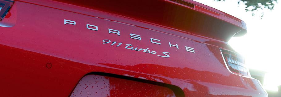 2014 Porsche 911 Turbo S Back