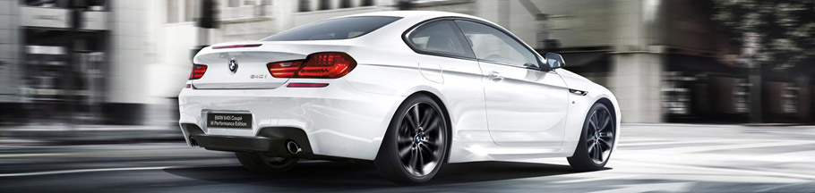 BMW 640i M Performance Coupe Rear View