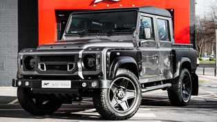 kahn reveals land rover defender xs 110 pick up in corris grey
