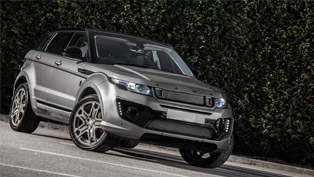 kahn range rover evoque rs sport shines bright in orkney grey