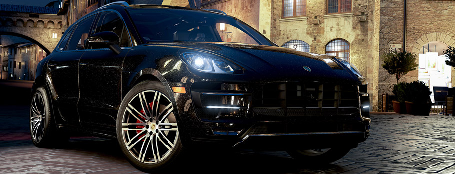 2015 Porsche Macan Turbo Front and Side View