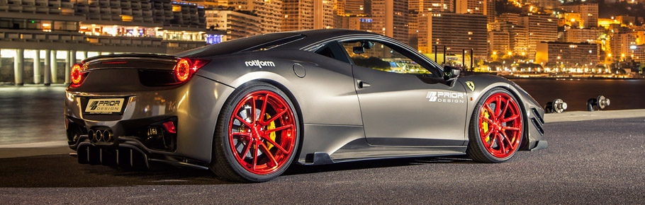 Prior-Design Ferrari 458 Italia Back and Side View
