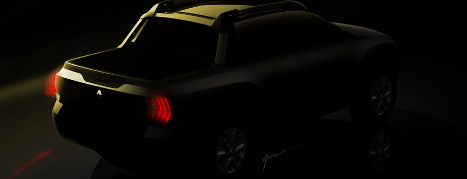 Renault's Duster Based Pickup Teaser Rear View