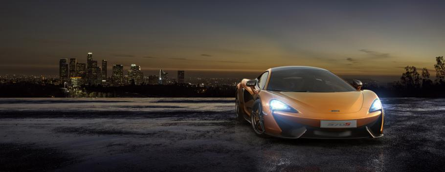 McLaren 570S Coupe Front View at Night