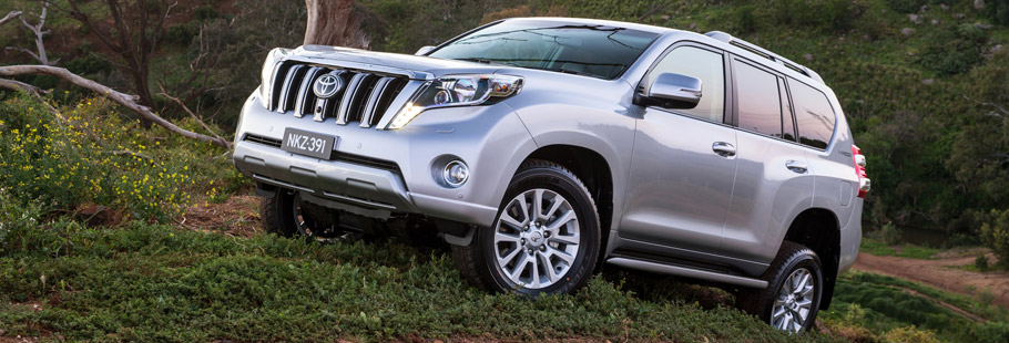 Toyota Prado Front and Side View