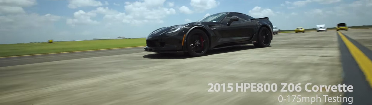 2015 Chevrolet Corvette C7 Z06 equipped with Hennessey Performance HPE800 Upgrade Video