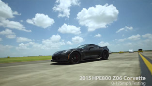 HPE800 Empowered Chevy Z06 Corvette Handles the 0-175 mph Testing [VIDEO]