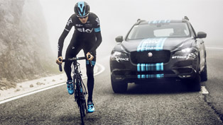 jaguar f-pace will support team sky at the tour de france