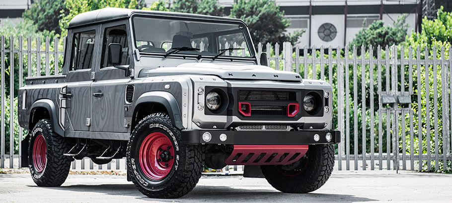 Kahn Land Rover Defender 110 Double Cab Pick Up Front View