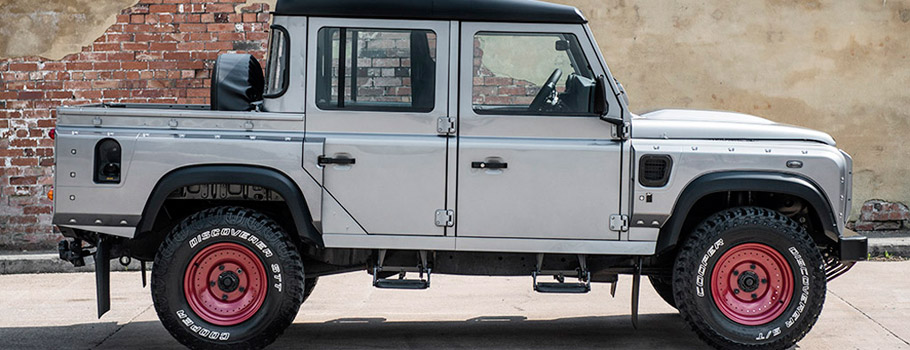 Kahn Land Rover Defender 110 Double Cab Pick Up Side View