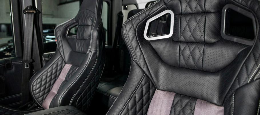 Kahn Land Rover Defender 110 Double Cab Pick Up Interior