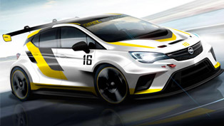 opel astra tcr reveals some minor details