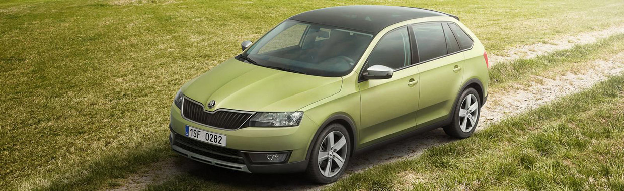 Skoda Rapid Spaceback ScoutLine Front View