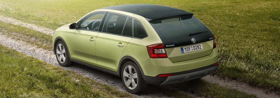 Skoda Rapid Spaceback ScoutLine  Rear View