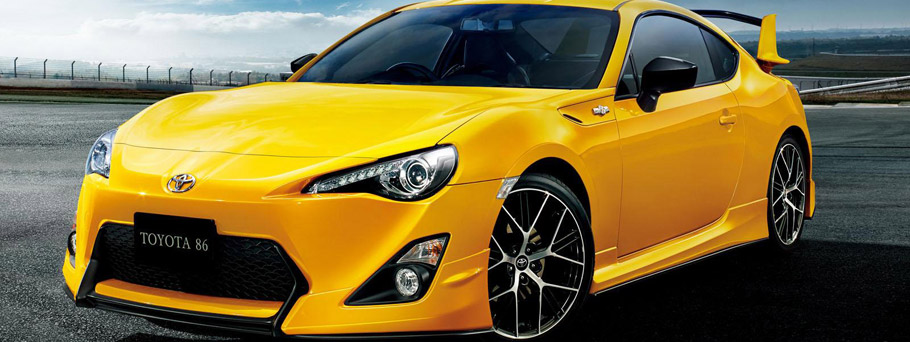 Toyota 86 Yellow Limited Exterior Front View