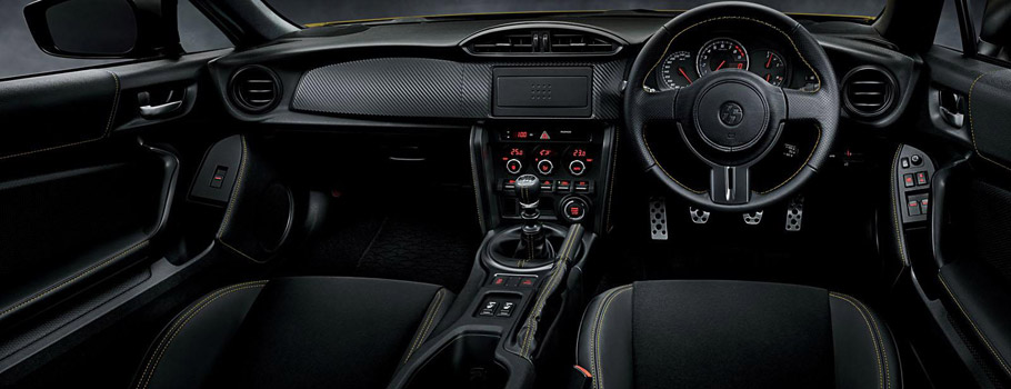Toyota 86 Yellow Limited Interior
