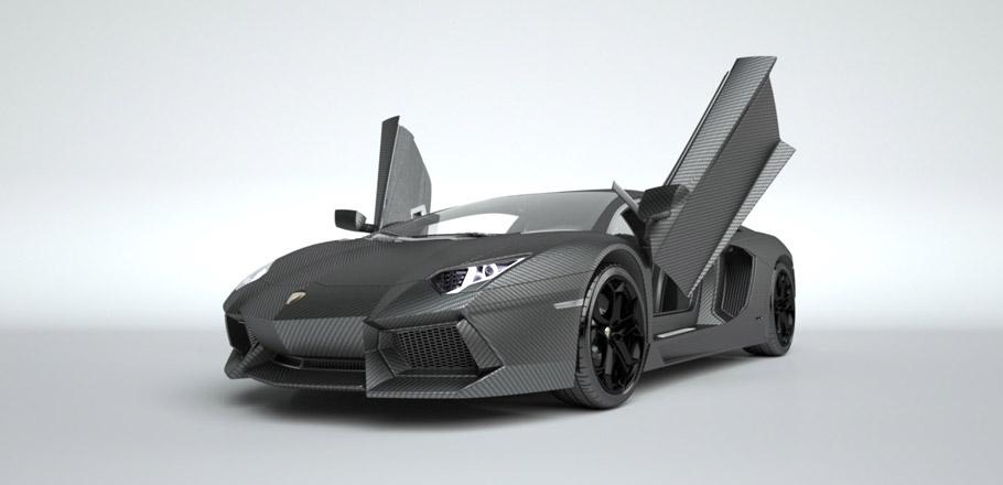 Lamborghini Aventador in Carbon Skin