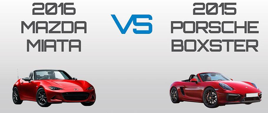2016 Mazda Miata vs 2015 Porsche Boxster