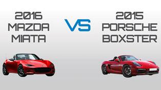 Surprisingly Similar: What Happens When We Compare 2016 Miata to a 2015 Boxster?