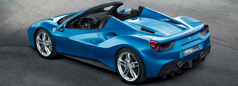 2016 Ferrari 488 Spider Rear View