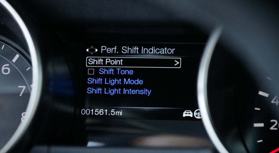 Ford Mustang Shelby GT350 shift light indicator