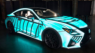 See Lexus RC F V8 coupe which displays human's heartbeat!