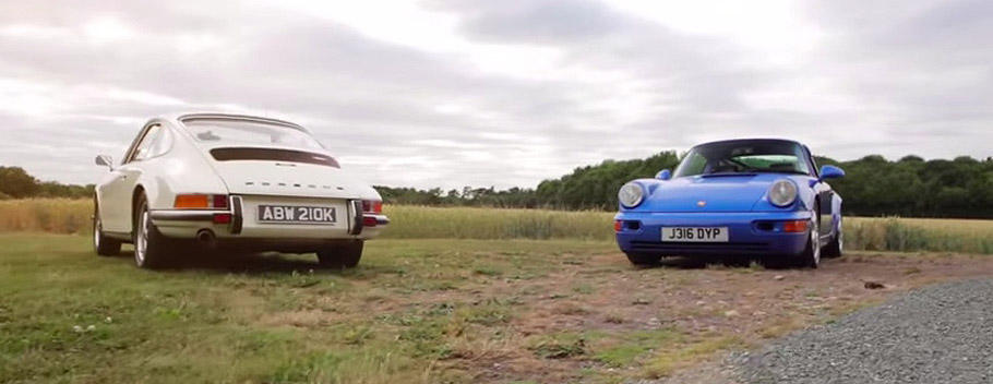 Porsche 911s Front and Rear View