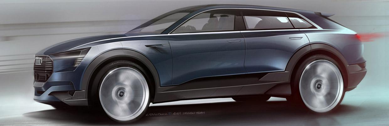 2015 Audi e-tron quattro Concept Side Sketch