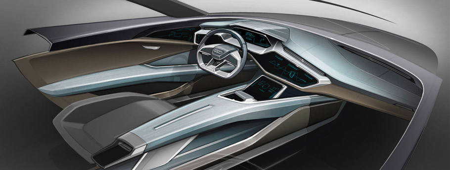 2015 Audi e-tron quattro Concept Interior Sketch