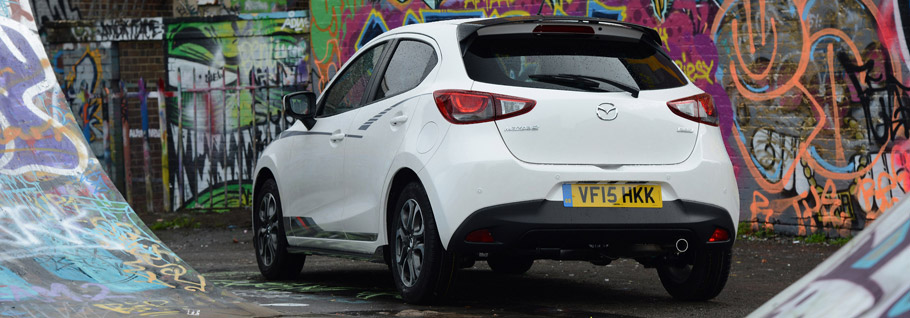 Mazda2 Sport Black Rear View
